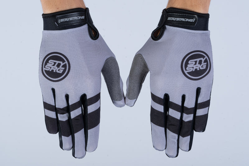 CHEVRON / GLOVES / ADULT / GREY