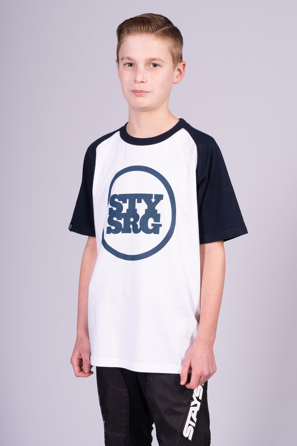 ICON BASEBALL / TEE / KIDS / WHITE/NAVY