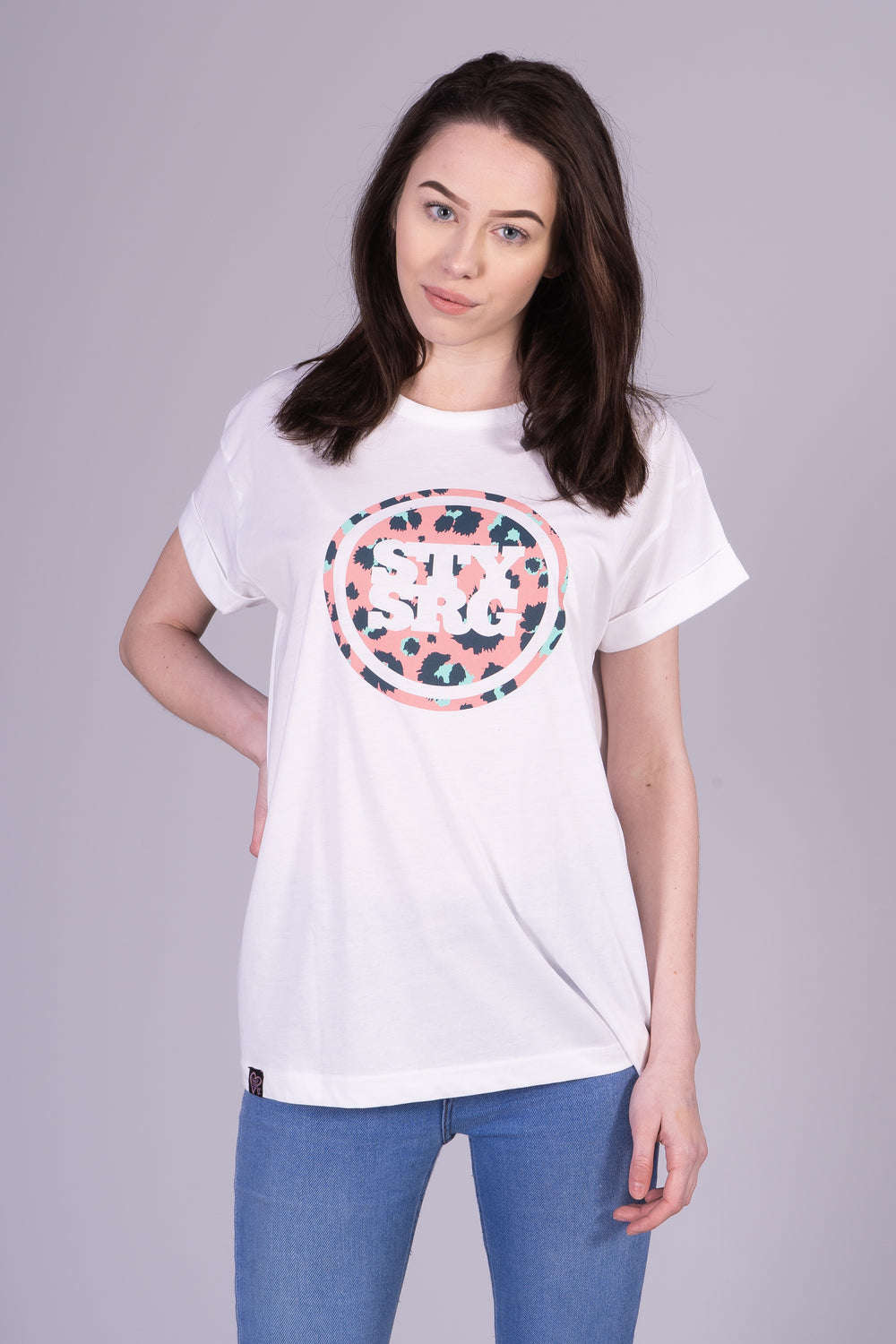 LEOPARD ICON WOMANS / TEE / WHITE