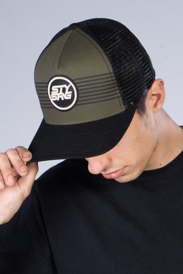 ICON STRIPE / SNAPBACK / HEADWEAR / BLACK/OLIVE