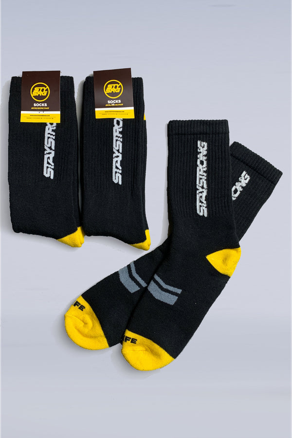 WORD / SOCKS / PACK OF 3 / BLACK