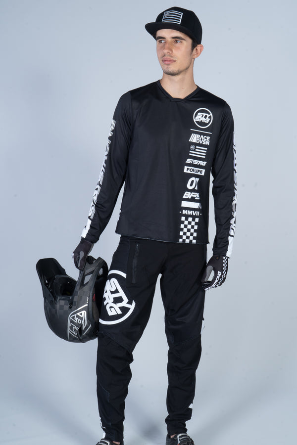 2020 STAY STRONG / RACE PANTS / ADULT / BLACK WHITE