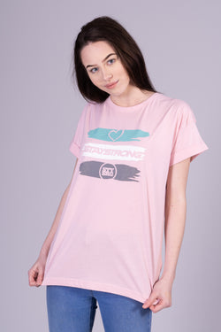 STRIPES WOMANS / TEE / PINK