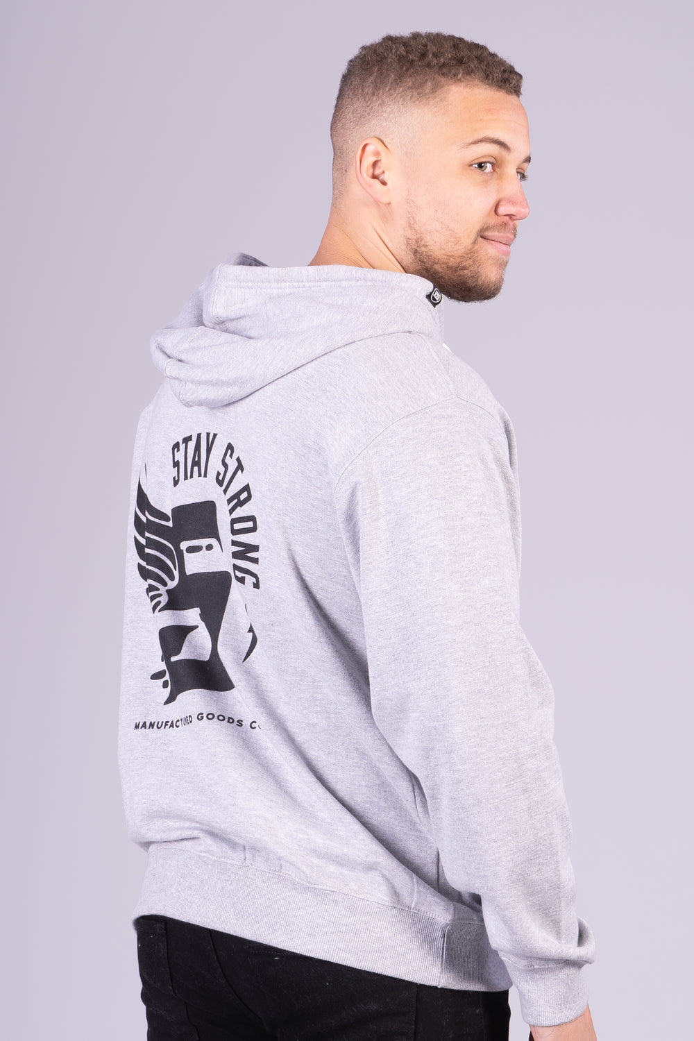 S WING / HOODY ZIP / GREY