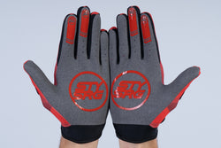 TRICOLOUR / GLOVES / ADULT / RED