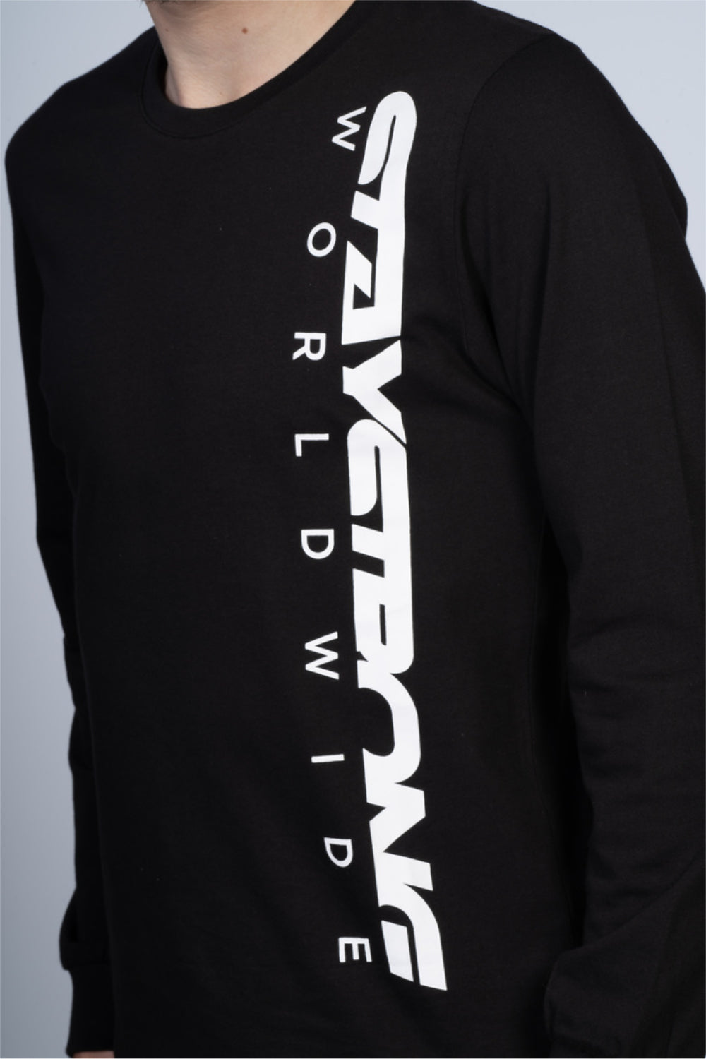 WORLDWIDE / TEE / L/S / BLACK