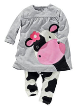 Cartoon Cow Baby Girl - Boxed Babies