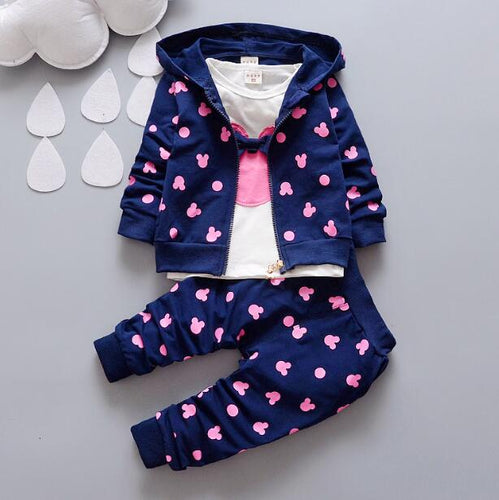 Hooded Baby Girls Minnie Suits Sets - Boxed Babies