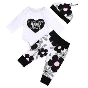 Cute Long Sleeve Romper Floral Baby Girls Clothes - Boxed Babies