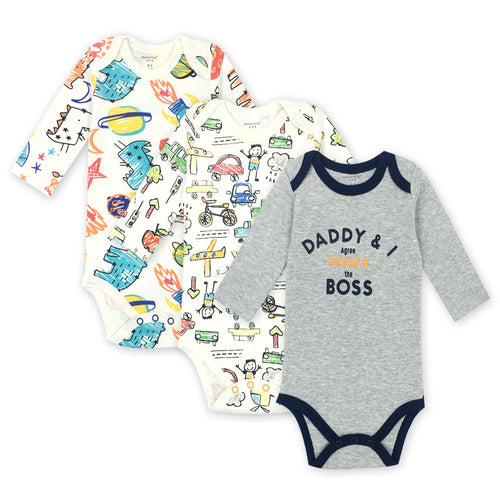 Daddy and I Baby Boy Clothes - Long Sleeve Baby Bodysuits - Boxed Babies