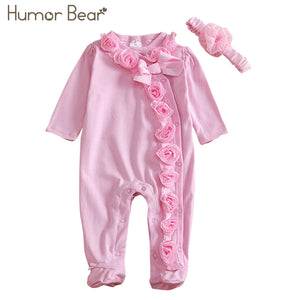 Flowers Humor Bear Baby Girl Clothe - Boxed Babies