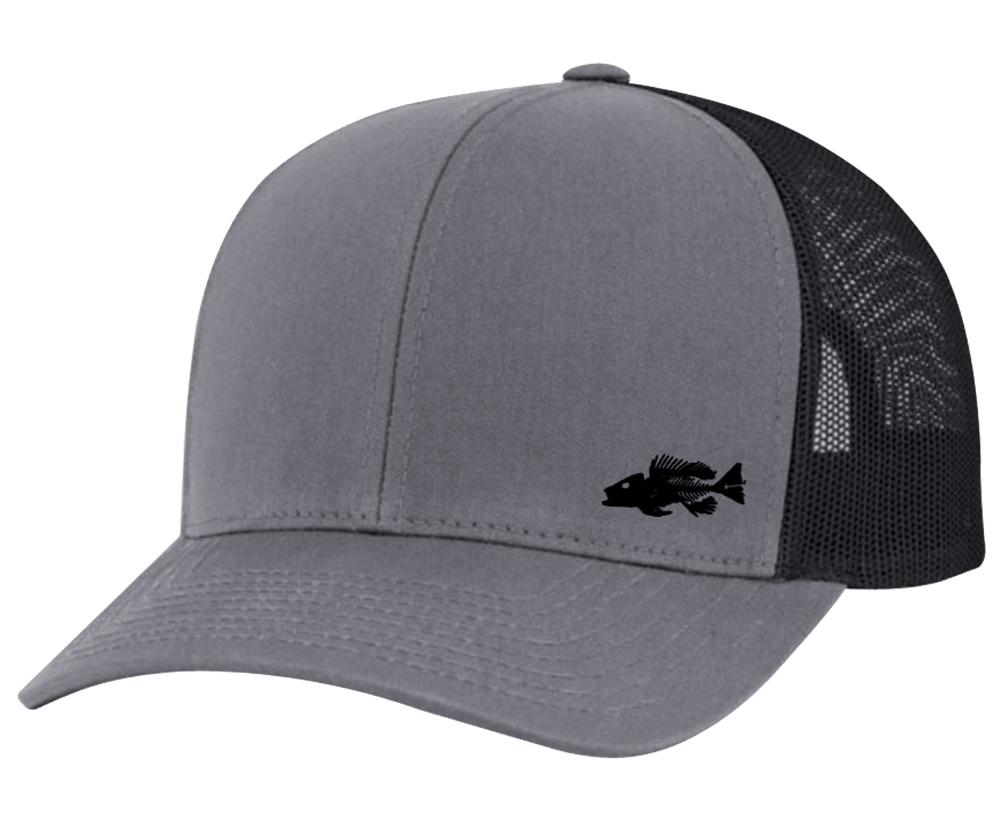 Bones Snap Back Trucker Hat Black - Bones Outfitters