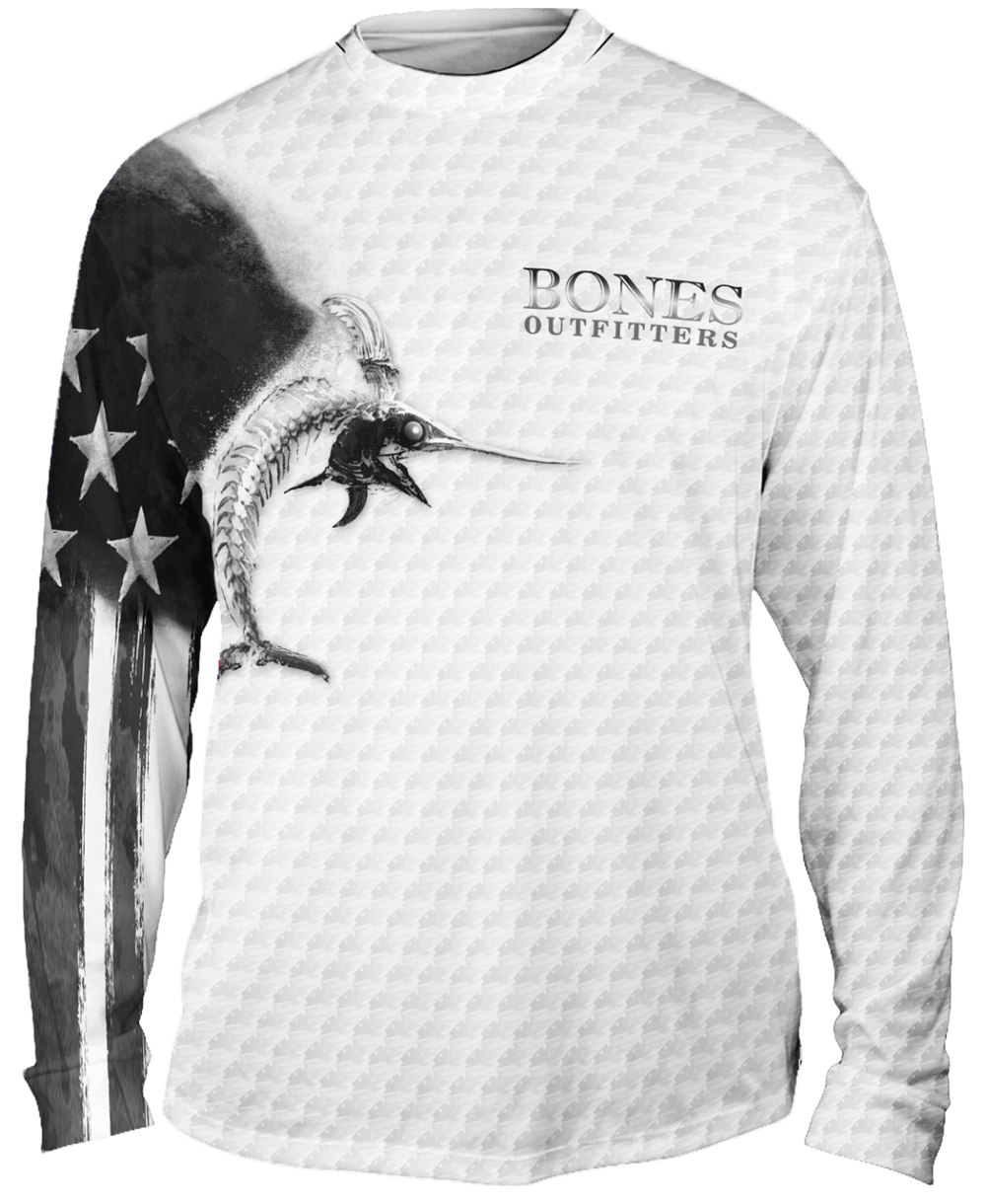 Billfish Stars & Stripes Long Sleeve - Bones Outfitters