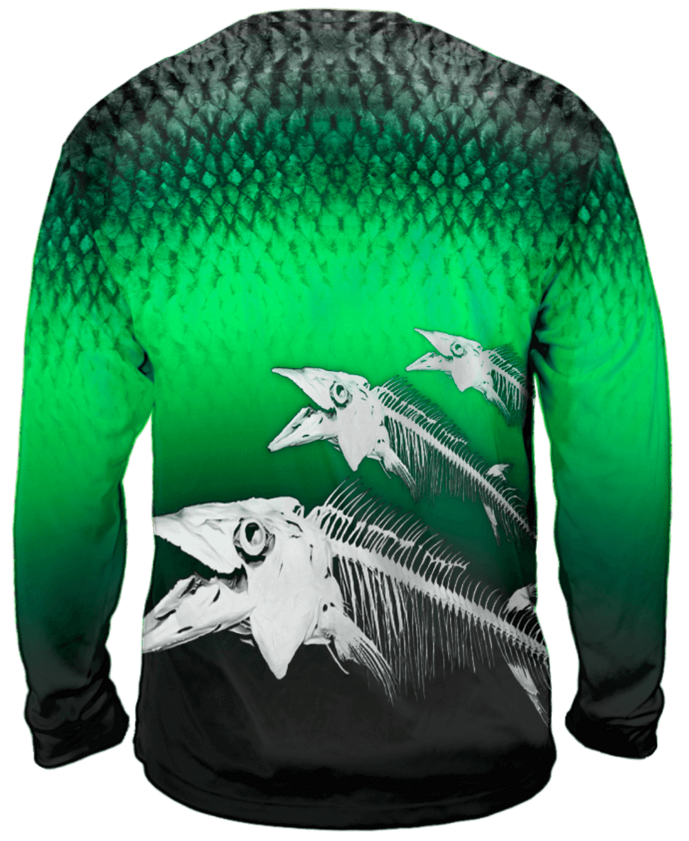 Youth Biting Back Wahoo Long Sleeve - Bones Outfitters