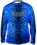 Bold Aqua Scales Long Sleeve - Bones Outfitters