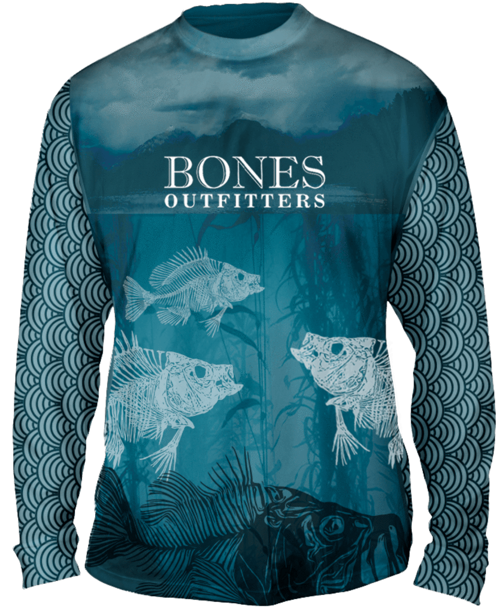 The Bluegill Blues Long Sleeve Big & Tall - Bones Outfitters