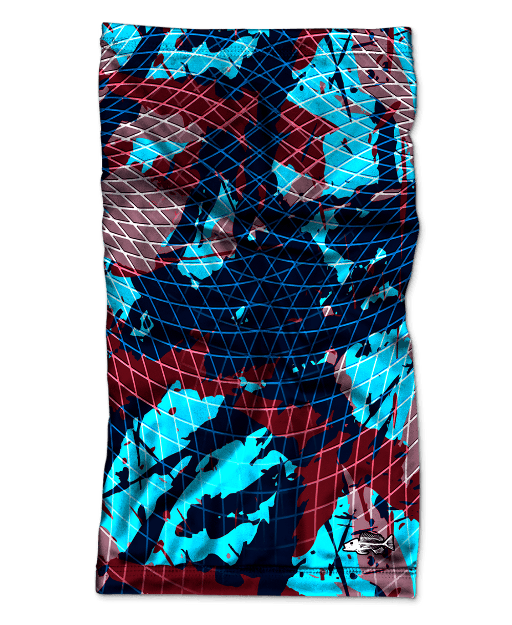 Bones Bold Camo Blue UV Face Protection - Bones Outfitters