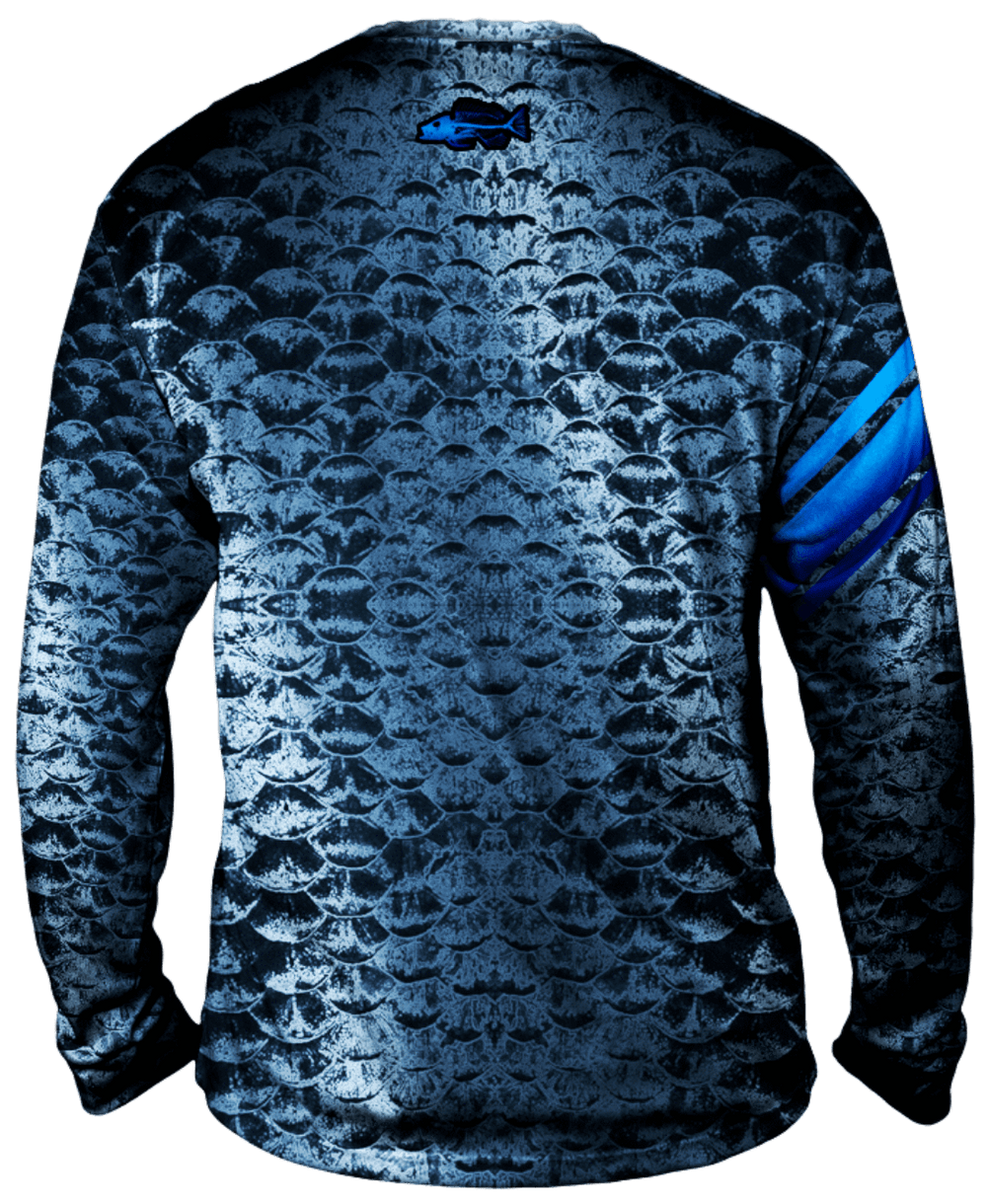 Bold Silver Scales Long Sleeve - Bones Outfitters