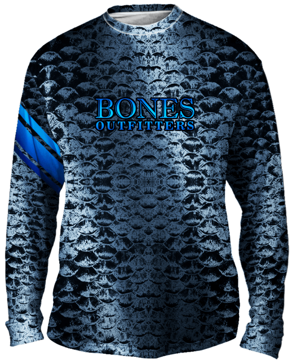 Bold Silver Scales Long Sleeve
