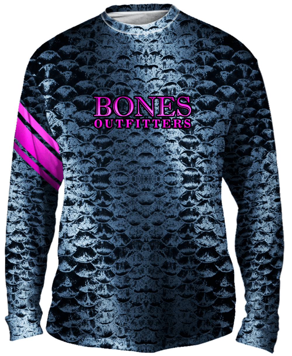 Bold Silver Scales Long Sleeve Big & Tall - Bones Outfitters