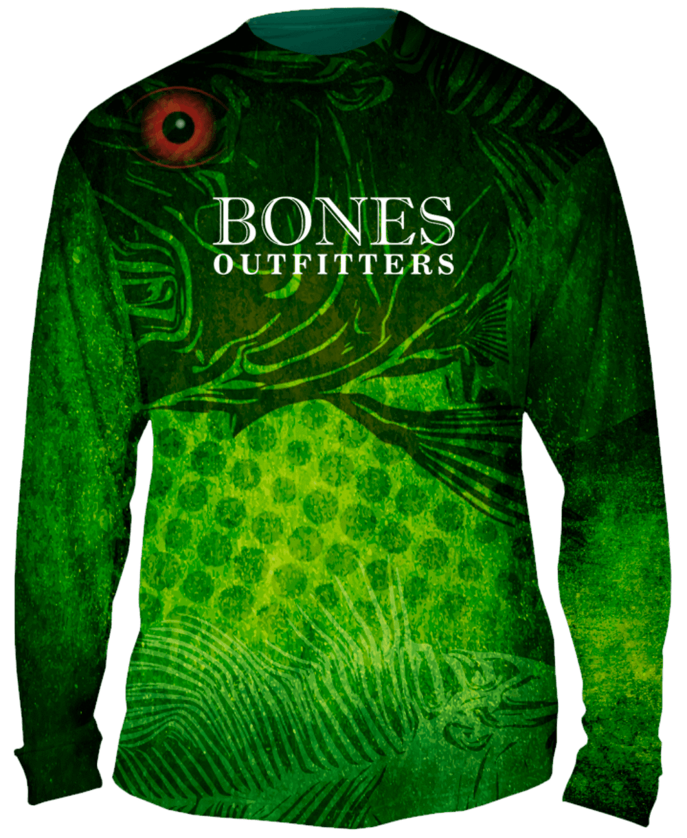 Red Eyes LargeMouth Bass Long Sleeve Big & Tall - Bones Outfitters