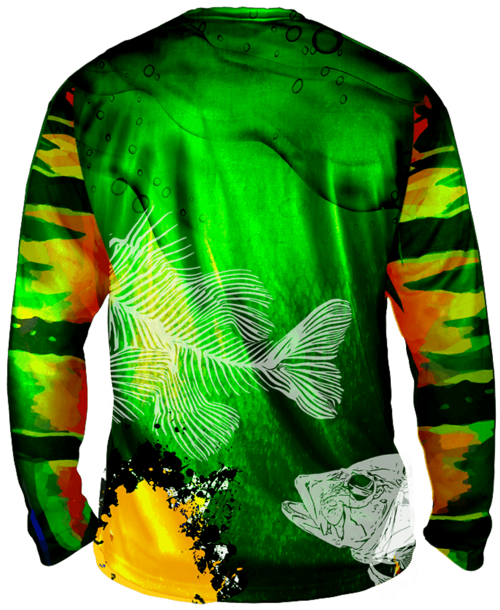 True Colors Peacock Bass Long Sleeve Big & Tall