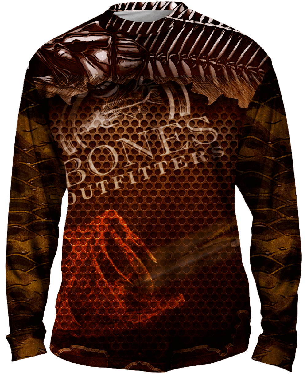 Mighty Small Mouth Bass Long Sleeve Big & Tall - Bones Outfitters