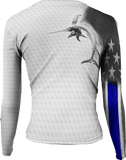 Womens Billfish Stars & Stripes Active Duty Long Sleeve