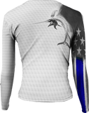 Womens Billfish Stars & Stripes Long Sleeve - Bones Outfitters