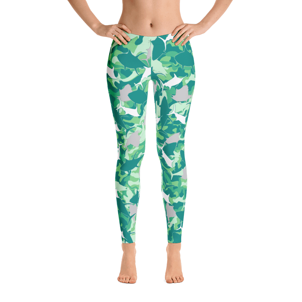 Sailfish Camo Performance Leggings - Bones Outfitters
