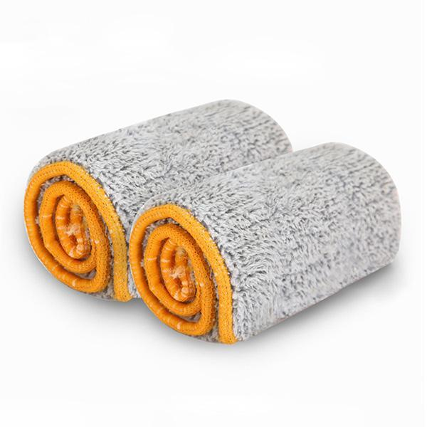 2PCS Microfiber Washable 360 Degree Mop