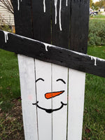 SnowCrow reversible snowman  scarecrow/outdoor/winter fall decoration/wooden sign