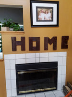 HOME letters wood sign