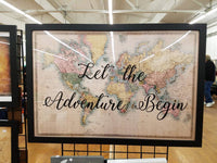 World Map With Let the Adventure Begin / World map / Let the Adventure Begin