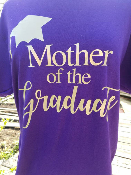 58e7c8630 ... Mother of the Graduate T-shirt / Graduation Shirts for Family and  Friends ...