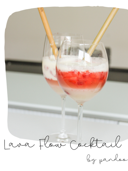 Lava Flow Cocktail Sommer Rezept DIY einfach easy