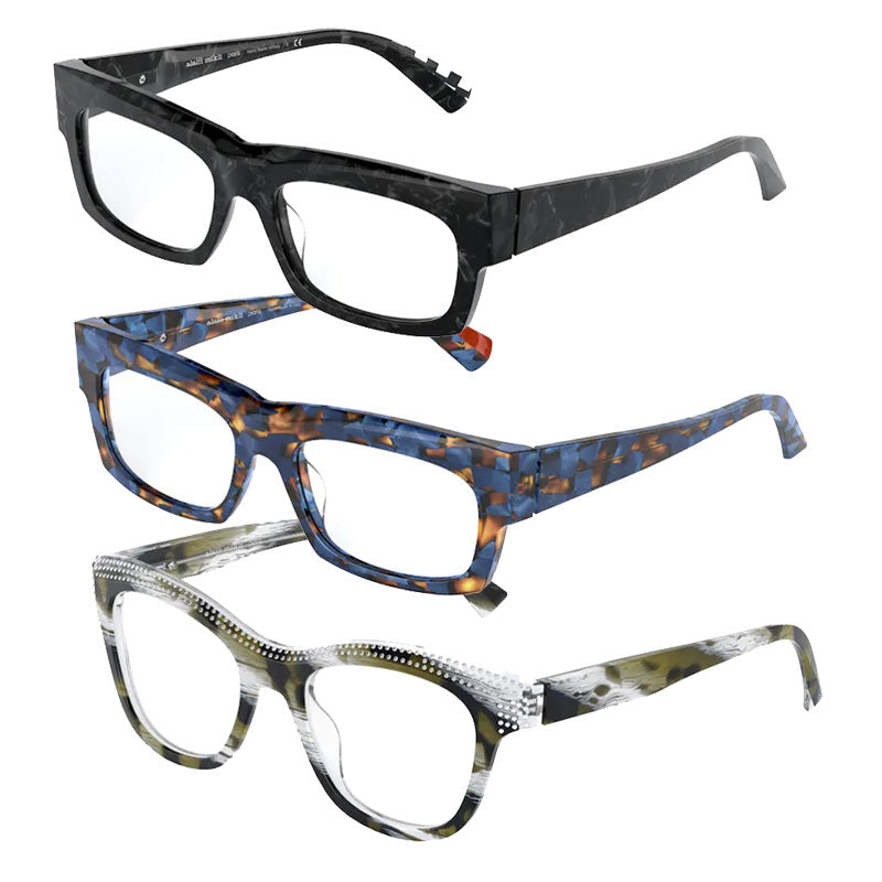 The sunglass category features a wide range of novelty and timeless frames