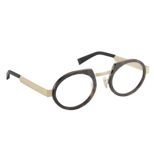 SEEOO Eyeglasses, Model: BigMetalGold Colour: Tortoise