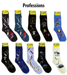 Professions Foozys Mens Crew Socks