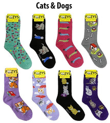 Cats & Dogs Women's Foozys Socks