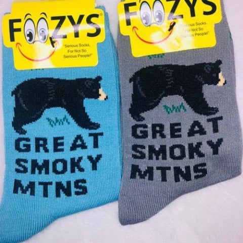 Great Smoky Mountains ~ Foozys by Crazy Awesome Socks ~ Choice 1 or 2 Pairs