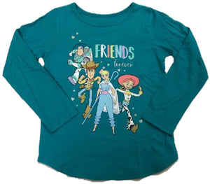 Pixar Toy Story 4 Friends Forever Cast Picture Walt Disney Girls T-Shirt
