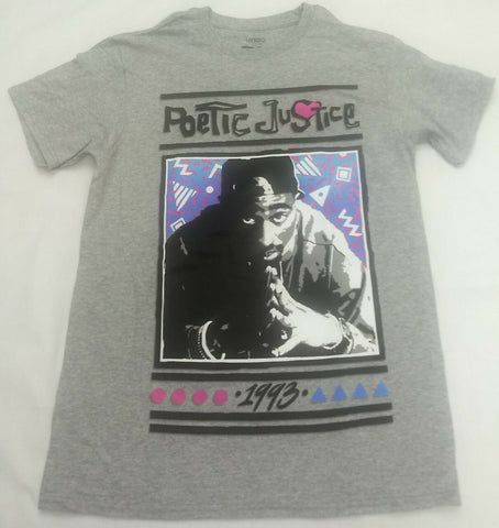 1993 Poetic Justice Tupac Shakur Pink Heart 2Pac Mens T-Shirt Potrait