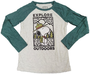 Explore Outdoors Peanuts Snoopy Dog Boys T-Shirt