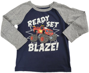 Nickelodeon Ready Set Blaze Monster Truck Boys T-Shirt (Blue)