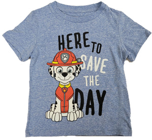 Here to Save the Day Paw Patrol Boys T-Shirt (Blue)