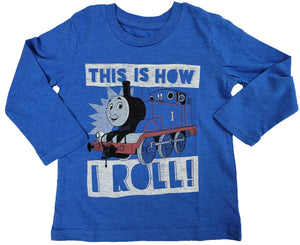 Thomas The Tank Engine This is How I Roll Boys T-Shirt (Blue)