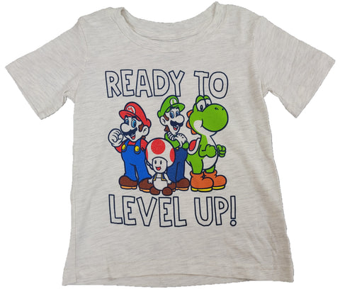Ready to Level Up Super Mario Bros Luigi Yoshi Boys T-Shirt
