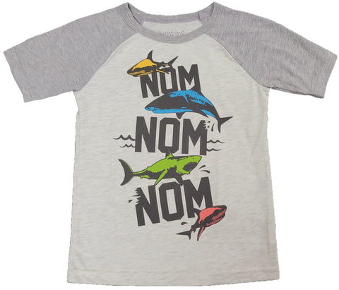 Nom Nom Nom Sharks Great White Boys T-Shirt