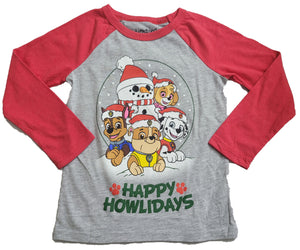 Paw Patrol Happy Howlidays Christmas Snowman Boys T-Shirt